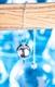 Kugelpendel versilbert, Messing mit Kette, 29g