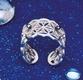 Blume des Lebens - Ring  aus 925er Silber