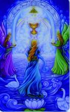 Engel Schutzkarte - Tor zum Licht