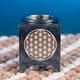 Aromalampe aus Speckstein - Blume des Lebens - schwarz