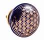Türknauf - Blume des Lebens - dunkelblau - Keramik
