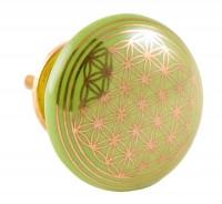 Türknauf - Blume des Lebens - grün - Keramik