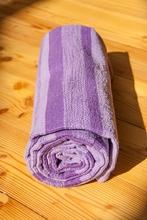 Yoga Matte aus Baumwolle lila